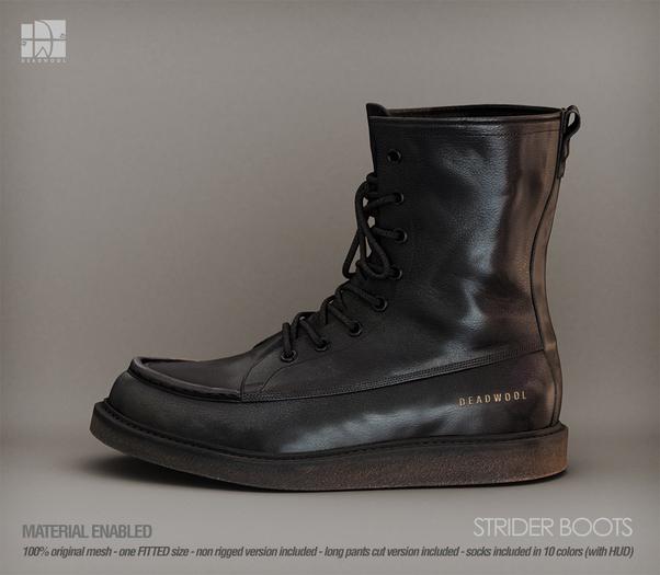 [Deadwool] Strider boots - black