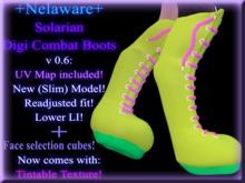 +Nelaware+ Solarian Digi Combat Boots