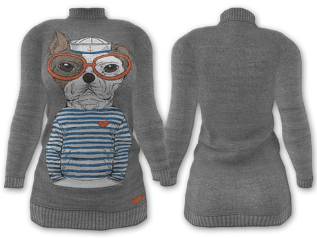 Ducknipple: Sweater vs3 - Gray