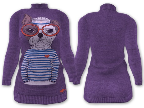 Ducknipple: Sweater vs3 - Purple