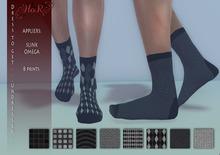 [HoR] Fashion Socks for Him - Blacks - mesh body appliers.