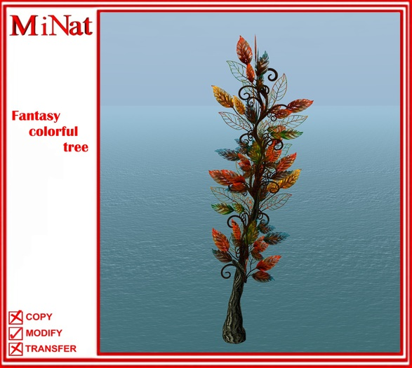 MiNat Fantasy colorful tree