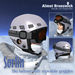 "Ski helmet with movable goggles ""Sorlin"" white"