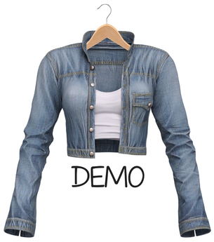 Blueberry - Radiance Denim Jackets - Maitreya, Belleza (All), Slink Physique Hourglass - ( Mesh ) DEMO