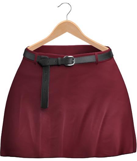 Blueberry - Blaire Belted Skirts - Maitreya Lara, Belleza (All), Slink Physique Hourglass (Mesh) - Cherry