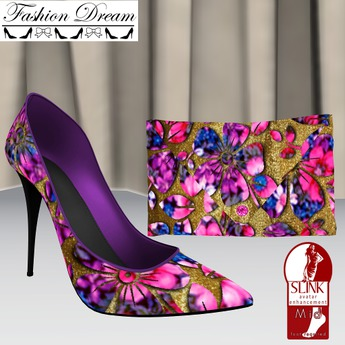 Flower Clutch and Shoes Slink Mid Feet - Fashion Dream