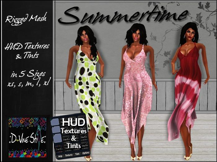 :: D~vine Style :: Summertime - Long Dress - with HUD