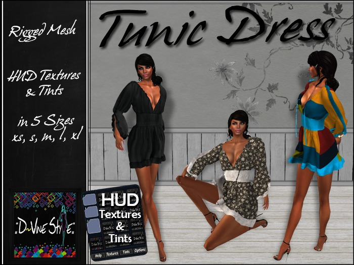 :: D~vine Style :: Tunic Dress - Tunic - with HUD