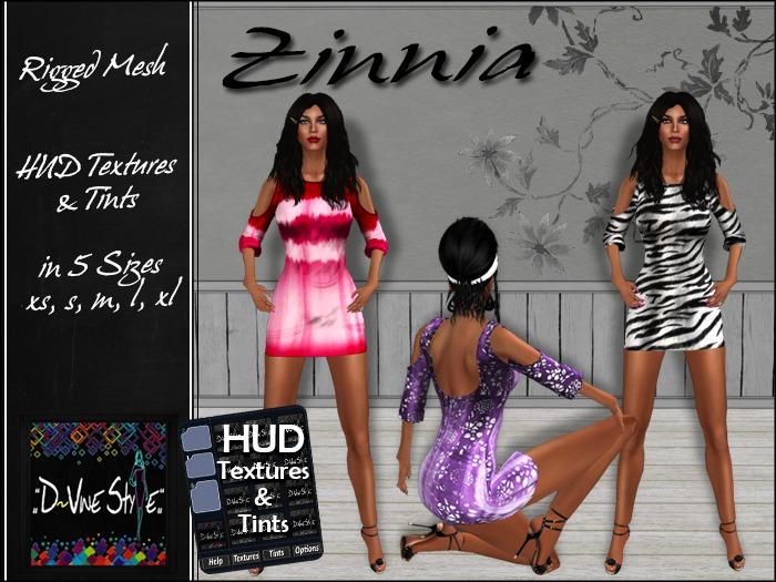 :: D~vine Style :: Zinnia - Dress - with HUD