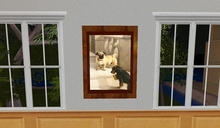 L$1 Antique Dog Painting, Pug and Terrier