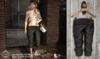 Petite Mort- Sandwashed silk capri BLACK