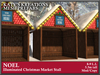 NOEL ILLUMINATED CHRISTMAS MARKET STALL, CHRISTMAS MARKET STALL W. LIGHTS & SNOW, CHRISTMAS EVENT BOOTH STAND