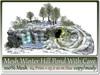Mesh Winter Hill Pond + Cave 64 Prim=25x20m Size copy-mody