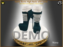 *BS* DEMO Ankle Boots High Heels with Socks
