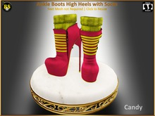 *BS* Ankle Boots Candy with Socks