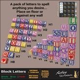 [A-U] Fun :: Block Letters - Alphabet Blocks