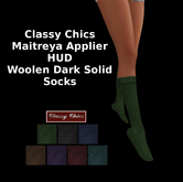 CC - Wool Dark Solid Socks - Maitreya Applier HUD