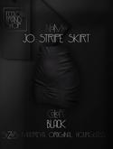 EC.CLOTH - Jo stripe skirt - Black