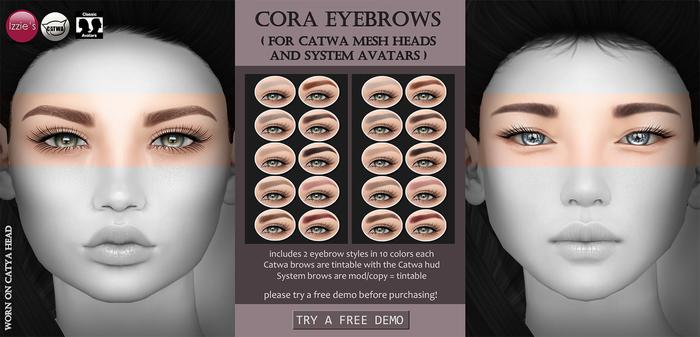 Izzie's - Cora Eyebrows (Catwa & System Heads)