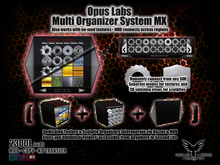 Opus Labs Master Organizer System MX v4 - Advanced Texture and Sculptie Organizer System /w Remote Access HUD