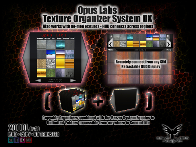 Opus Labs Texture Organizer System DX v4 - ON SALE!