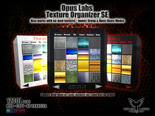 Opus Labs Texture Organizer SE v4 [ Sculptie Preview - No-Mod Texture Support]
