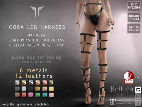 **RE** Cora Legs Harness - Maitreya, Physique, Hourglass, Belleza * Rigged Mesh *