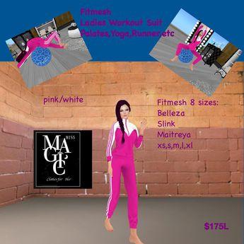 Fitmesh Pink Workout jogging Palates yoga female (box)