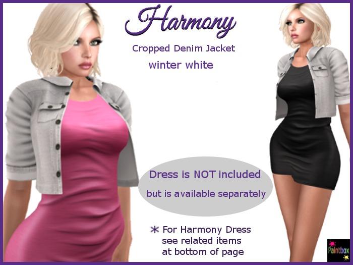 Harmony Denim Jacket in Winter White denim
