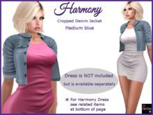 Harmony Denim Jacket in medium blue denim