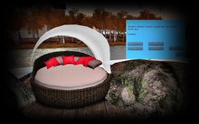 Modern Outdoor Round Lounge Bed