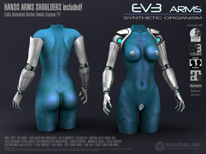 EV3 Cybernetic Arms+Hands /Animated Pose System [Neurolab Inc.]