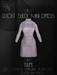 Ec.cloth - Cutout Suede Mini-Dress - Taupe (unpacked)