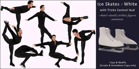 AvaBoy - Ice Skates with Tricks Control Hud White 2.0