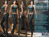 "Bella Moda: ""Avventura"" Teal & Black Adventure Outfit Maitreya/TMP/Slink/Belleza+Standard - FULL"