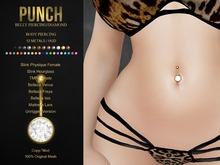 PUNCH / Belly Piercing / Diamond [Slink,TMP,Belleza,Maitreya] Navel Piercing Rigged Bento Jewelry