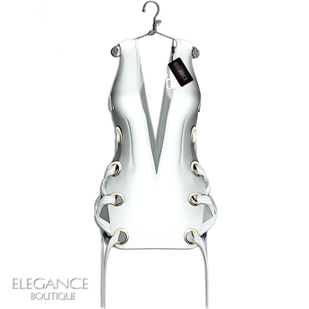 "Elegance Boutique -Dress  ""Stephie"" - White -  Maitreya"