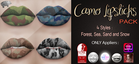 Mad' - Camo Lipsticks [PACK] [APPLIERS]