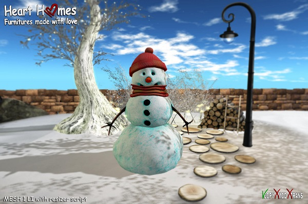 <Heart Homes> Cute Snowman (boxed, copy)