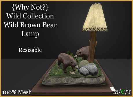 {Why Not?}Wild Collection-Brown Bear Lamp-Boxed