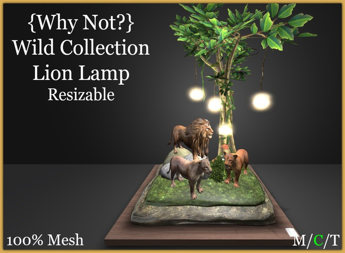 { Why Not ?}Wild Collection-Lion Pack Lamp-Boxed