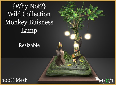 { Why Not ?}Wild Collection-Monkey Business Lamp-Boxed
