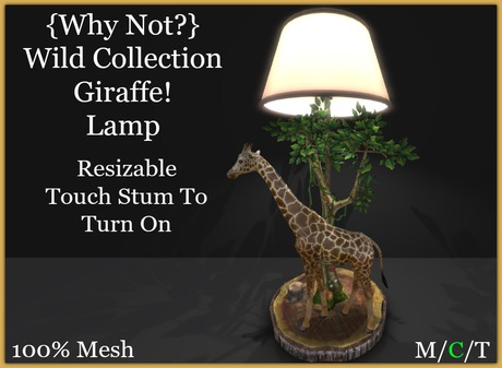 {Why Not ?}WC/ Giraffe! Lamp-Boxed