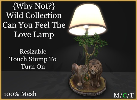 {Why Not?}Wc/Can You Feel The Love Lamp-Boxed