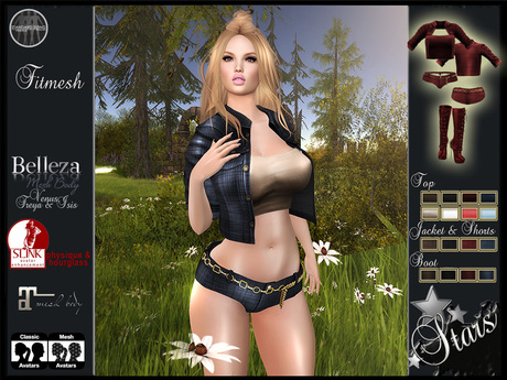 """Stars - Sexy clothes: Maitreya,Classic,Isis,Venus,Freya,Physique,Hourglass - """"Emmie"""""""