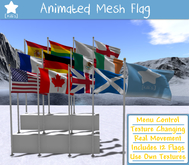 Animated Mesh Flag & Pole - Custom Image!
