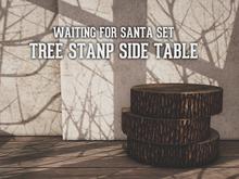 {BE} Tree stump side table