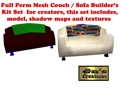 Full Perm Mesh Couch Sofa
