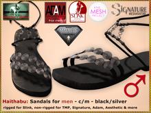 Bliensen - Haithabu - Viking Sandals M - Slink TMP Adam Signat. Aesth. - Black