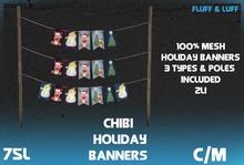 F&L - Mesh Chibi Holiday Banners